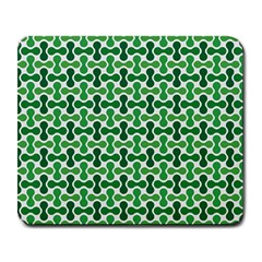Green White Wave Large Mousepads by Alisyart