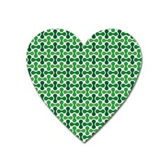 Green White Wave Heart Magnet by Alisyart