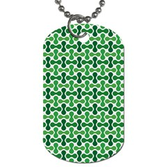 Green White Wave Dog Tag (one Side) by Alisyart