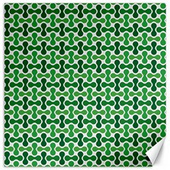 Green White Wave Canvas 16  X 16   by Alisyart