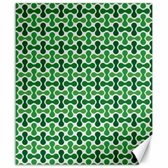Green White Wave Canvas 20  X 24   by Alisyart