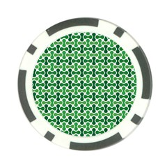 Green White Wave Poker Chip Card Guard (10 Pack) by Alisyart