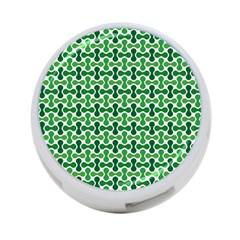 Green White Wave 4 Port Usb Hub (two Sides)  by Alisyart