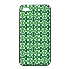 Green White Wave Apple Iphone 4/4s Seamless Case (black)