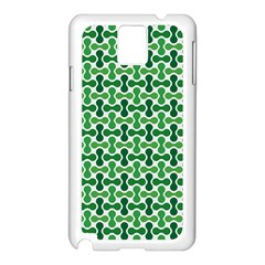 Green White Wave Samsung Galaxy Note 3 N9005 Case (white) by Alisyart
