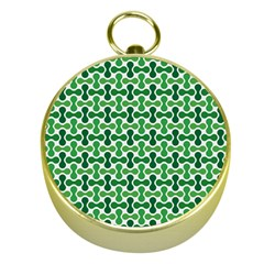 Green White Wave Gold Compasses by Alisyart