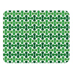 Green White Wave Double Sided Flano Blanket (large)  by Alisyart