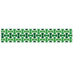 Green White Wave Flano Scarf (large)