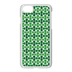 Green White Wave Apple Iphone 7 Seamless Case (white) by Alisyart