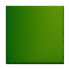 Green Wave Waves Line Tile Coasters by Alisyart