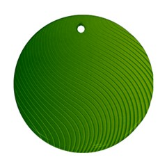 Green Wave Waves Line Ornament (round) by Alisyart