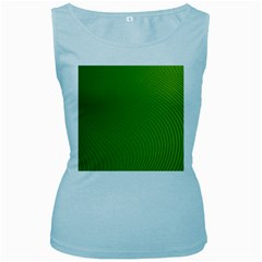 Green Wave Waves Line Women s Baby Blue Tank Top