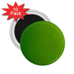 Green Wave Waves Line 2 25  Magnets (10 Pack)