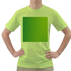 Green Wave Waves Line Green T Shirt by Alisyart