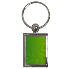 Green Wave Waves Line Key Chains (rectangle)  by Alisyart