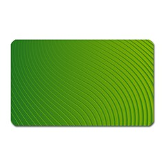 Green Wave Waves Line Magnet (rectangular) by Alisyart