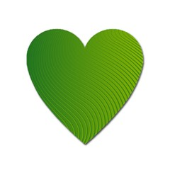 Green Wave Waves Line Heart Magnet by Alisyart