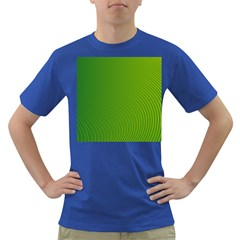 Green Wave Waves Line Dark T-shirt by Alisyart