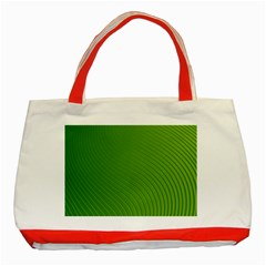 Green Wave Waves Line Classic Tote Bag (red) by Alisyart
