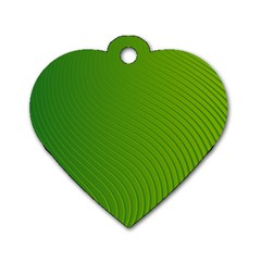 Green Wave Waves Line Dog Tag Heart (one Side) by Alisyart