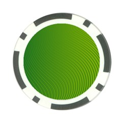 Green Wave Waves Line Poker Chip Card Guard by Alisyart