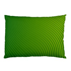 Green Wave Waves Line Pillow Case