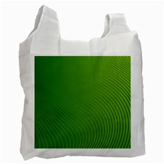 Green Wave Waves Line Recycle Bag (one Side) by Alisyart