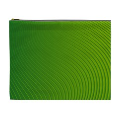 Green Wave Waves Line Cosmetic Bag (xl) by Alisyart