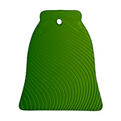 Green Wave Waves Line Ornament (bell)