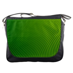 Green Wave Waves Line Messenger Bags