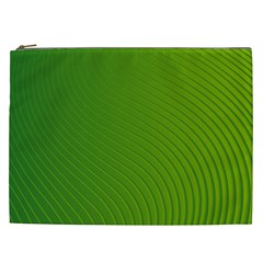 Green Wave Waves Line Cosmetic Bag (xxl)  by Alisyart