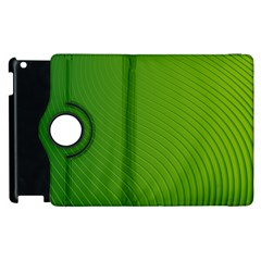 Green Wave Waves Line Apple Ipad 3/4 Flip 360 Case by Alisyart