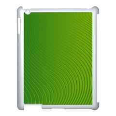 Green Wave Waves Line Apple Ipad 3/4 Case (white)