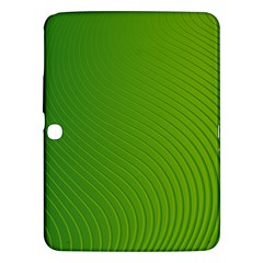 Green Wave Waves Line Samsung Galaxy Tab 3 (10 1 ) P5200 Hardshell Case  by Alisyart
