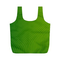 Green Wave Waves Line Full Print Recycle Bags (m)  by Alisyart