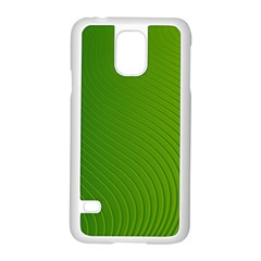 Green Wave Waves Line Samsung Galaxy S5 Case (white)