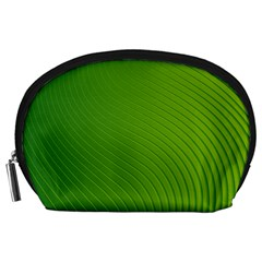 Green Wave Waves Line Accessory Pouches (large)