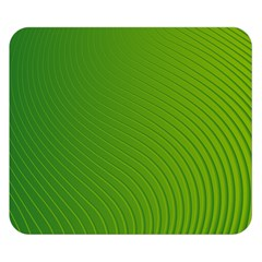 Green Wave Waves Line Double Sided Flano Blanket (small)