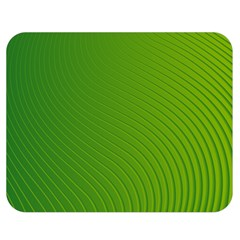 Green Wave Waves Line Double Sided Flano Blanket (medium)