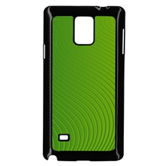 Green Wave Waves Line Samsung Galaxy Note 4 Case (black) by Alisyart