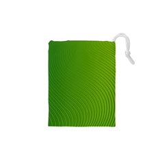 Green Wave Waves Line Drawstring Pouches (xs)