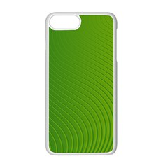 Green Wave Waves Line Apple Iphone 7 Plus White Seamless Case by Alisyart