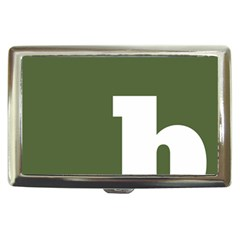 Square Alphabet Green White Sign Cigarette Money Cases