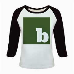 Square Alphabet Green White Sign Kids Baseball Jerseys by Alisyart