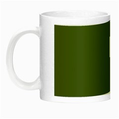 Square Alphabet Green White Sign Night Luminous Mugs by Alisyart