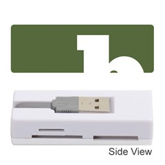 Square Alphabet Green White Sign Memory Card Reader (stick)