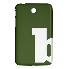 Square Alphabet Green White Sign Samsung Galaxy Tab 3 (7 ) P3200 Hardshell Case  by Alisyart