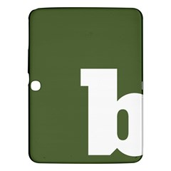Square Alphabet Green White Sign Samsung Galaxy Tab 3 (10 1 ) P5200 Hardshell Case