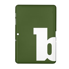 Square Alphabet Green White Sign Samsung Galaxy Tab 2 (10 1 ) P5100 Hardshell Case  by Alisyart