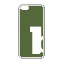 Square Alphabet Green White Sign Apple Iphone 5c Seamless Case (white) by Alisyart